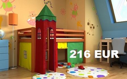 lit pour enfants toboggan mezzanine tour rideau matelas sommier pour matelas ebay. Black Bedroom Furniture Sets. Home Design Ideas